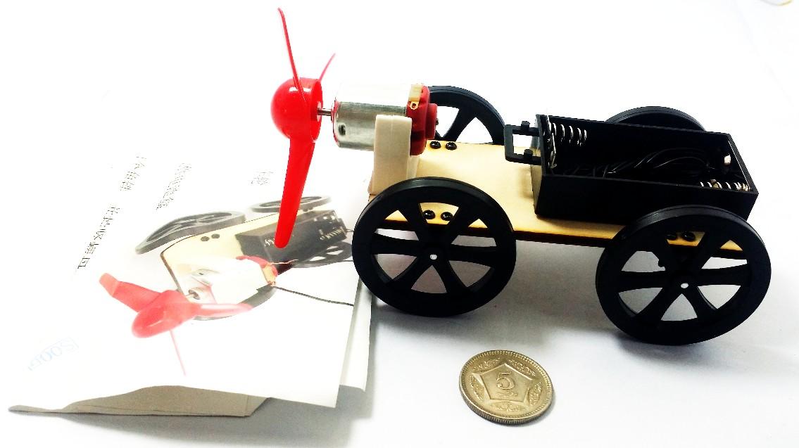Wind wooden car B2 science DIY kit STEMP kids Science